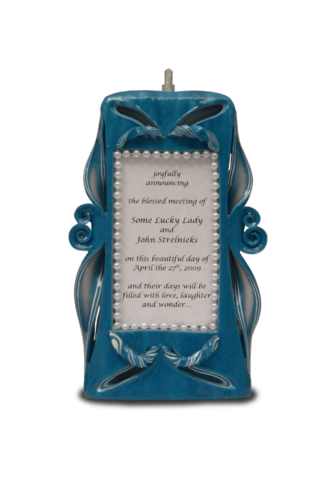 DVD5 9-inch large text candle